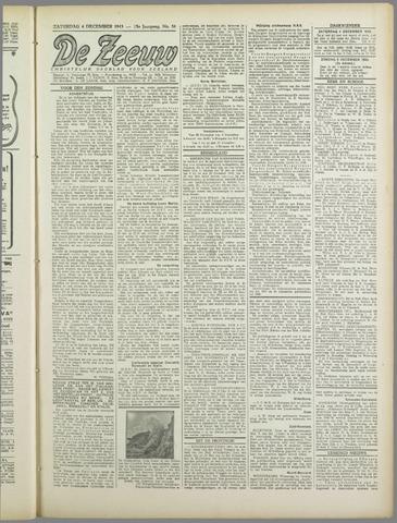 De Zeeuw. Christelijk-historisch nieuwsblad voor Zeeland 1943-12-04