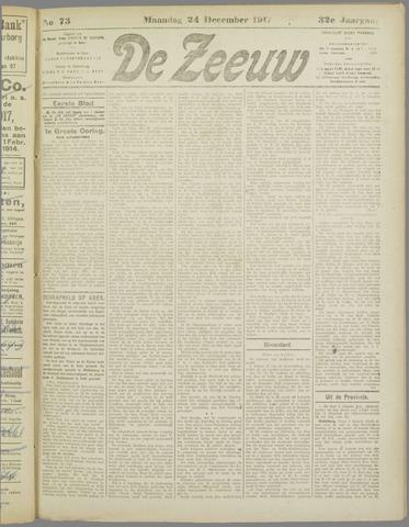 De Zeeuw. Christelijk-historisch nieuwsblad voor Zeeland 1917-12-24