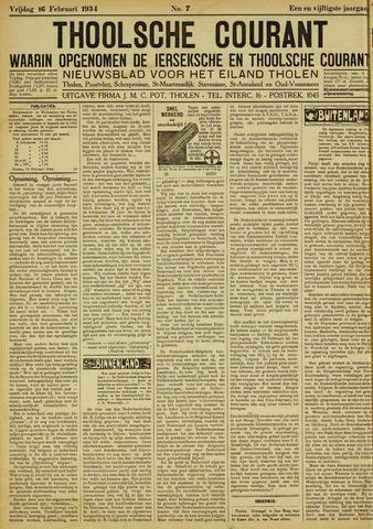 Ierseksche en Thoolsche Courant 1934-02-16