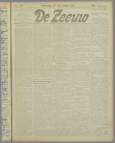 De Zeeuw. Christelijk-historisch nieuwsblad voor Zeeland 1917-11-17
