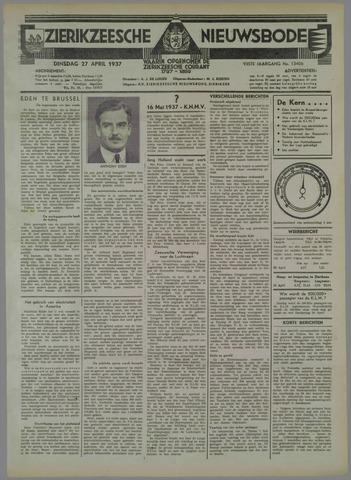 Zierikzeesche Nieuwsbode 1937-04-27