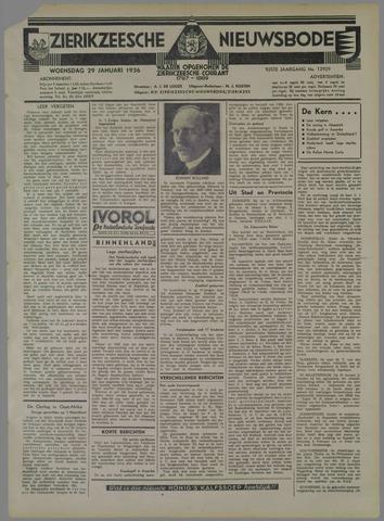 Zierikzeesche Nieuwsbode 1936-01-29