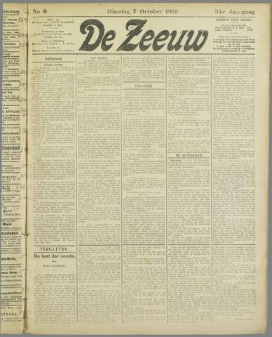 De Zeeuw. Christelijk-historisch nieuwsblad voor Zeeland 1919-10-07