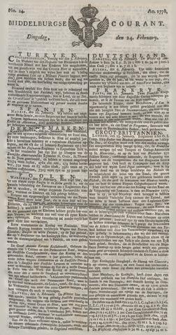 Middelburgsche Courant 1778-02-24