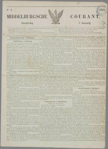Middelburgsche Courant 1854-01-05