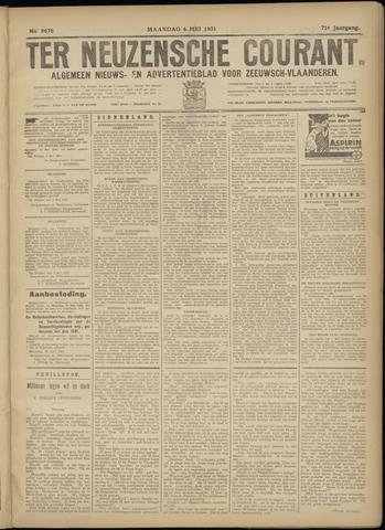 Ter Neuzensche Courant. Algemeen Nieuws- en Advertentieblad voor Zeeuwsch-Vlaanderen / Neuzensche Courant ... (idem) / (Algemeen) nieuws en advertentieblad voor Zeeuwsch-Vlaanderen 1931-05-04