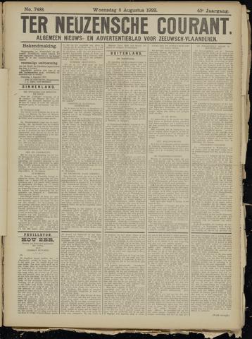 Ter Neuzensche Courant. Algemeen Nieuws- en Advertentieblad voor Zeeuwsch-Vlaanderen / Neuzensche Courant ... (idem) / (Algemeen) nieuws en advertentieblad voor Zeeuwsch-Vlaanderen 1923-08-08