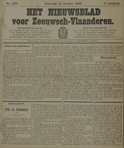 Nieuwsblad voor Zeeuwsch-Vlaanderen 1898-10-15