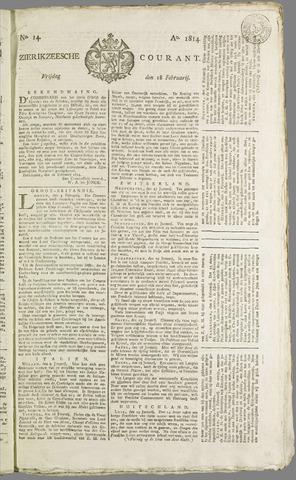 Zierikzeesche Courant 1814-02-18