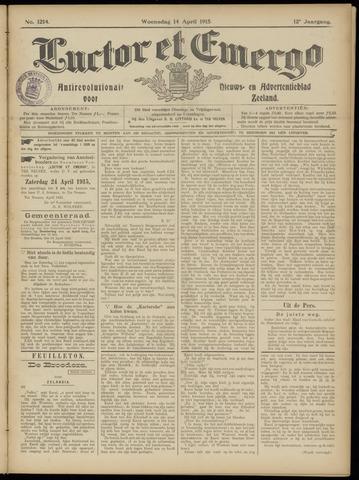 Luctor et Emergo. Antirevolutionair nieuws- en advertentieblad voor Zeeland / Zeeuwsch-Vlaanderen. Orgaan ter verspreiding van de christelijke beginselen in Zeeuwsch-Vlaanderen 1915-04-14