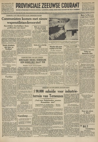 Provinciale Zeeuwse Courant 1951-11-21