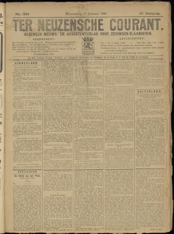 Ter Neuzensche Courant. Algemeen Nieuws- en Advertentieblad voor Zeeuwsch-Vlaanderen / Neuzensche Courant ... (idem) / (Algemeen) nieuws en advertentieblad voor Zeeuwsch-Vlaanderen 1921-01-12