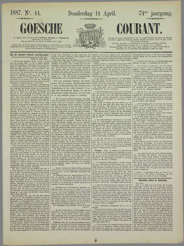 Goessche Courant 1887-04-14