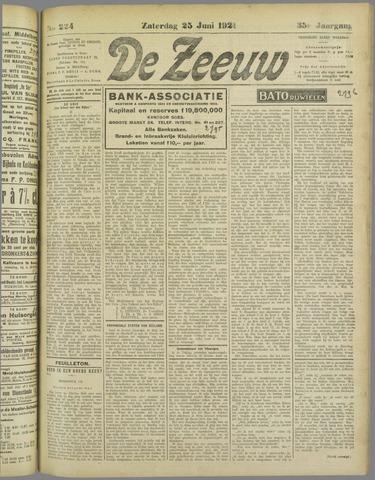 De Zeeuw. Christelijk-historisch nieuwsblad voor Zeeland 1921-06-25
