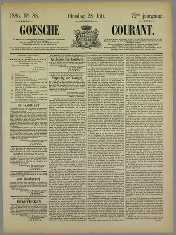 Goessche Courant 1885-07-28