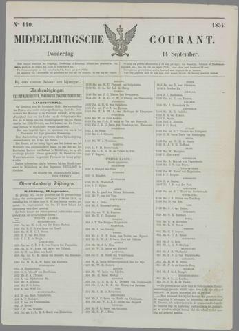 Middelburgsche Courant 1854-09-14