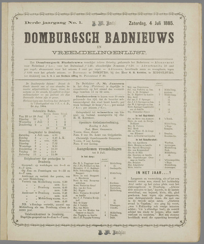 Domburgsch Badnieuws 1885