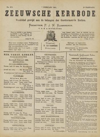 Zeeuwsche kerkbode, weekblad gewijd aan de belangen der gereformeerde kerken/ Zeeuwsch kerkblad 1891-02-07
