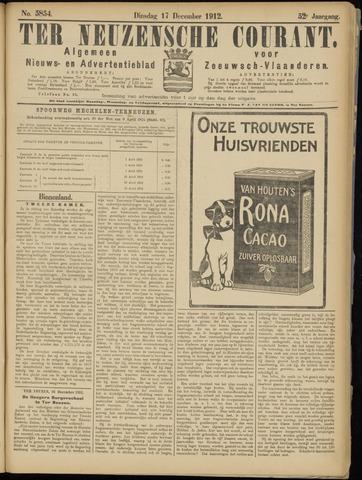 Ter Neuzensche Courant. Algemeen Nieuws- en Advertentieblad voor Zeeuwsch-Vlaanderen / Neuzensche Courant ... (idem) / (Algemeen) nieuws en advertentieblad voor Zeeuwsch-Vlaanderen 1912-12-17