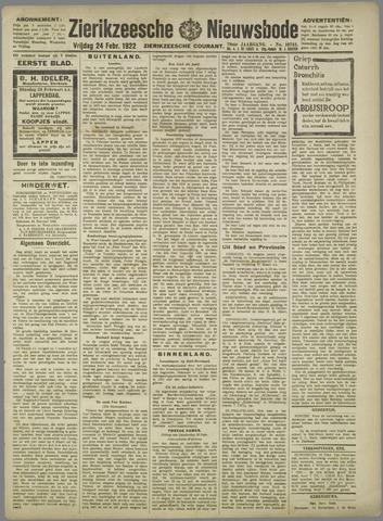 Zierikzeesche Nieuwsbode 1922-02-24