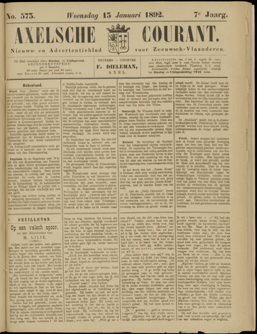 Axelsche Courant 1892-01-13