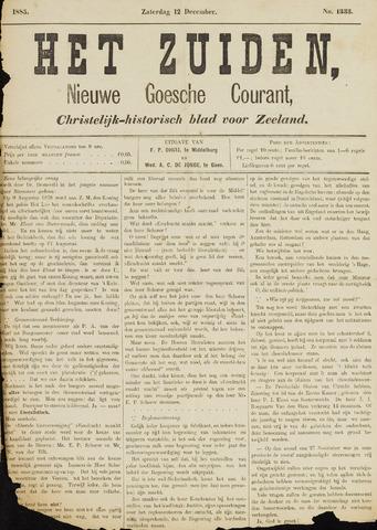 Het Zuiden, Christelijk-historisch blad 1885-12-12