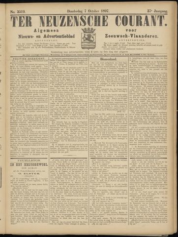Ter Neuzensche Courant. Algemeen Nieuws- en Advertentieblad voor Zeeuwsch-Vlaanderen / Neuzensche Courant ... (idem) / (Algemeen) nieuws en advertentieblad voor Zeeuwsch-Vlaanderen 1897-10-07