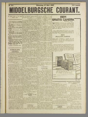 Middelburgsche Courant 1927-05-17