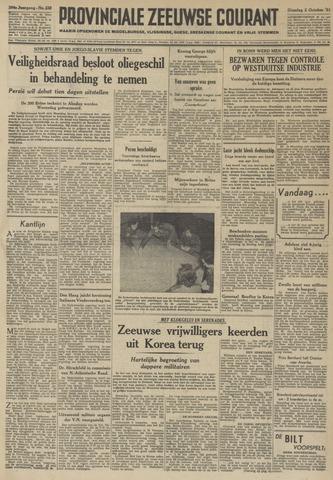 Provinciale Zeeuwse Courant 1951-10-02