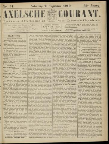 Axelsche Courant 1919-08-02