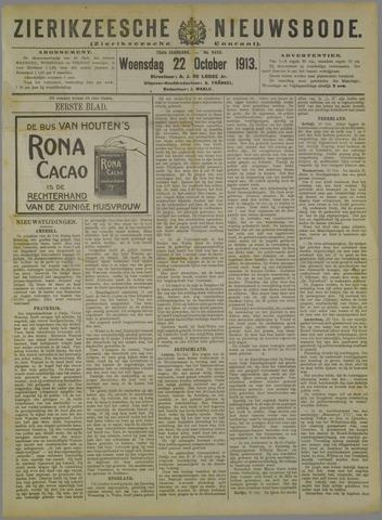 Zierikzeesche Nieuwsbode 1913-10-22