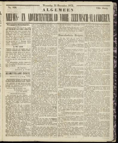 Ter Neuzensche Courant. Algemeen Nieuws- en Advertentieblad voor Zeeuwsch-Vlaanderen / Neuzensche Courant ... (idem) / (Algemeen) nieuws en advertentieblad voor Zeeuwsch-Vlaanderen 1873-12-31