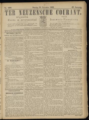 Ter Neuzensche Courant. Algemeen Nieuws- en Advertentieblad voor Zeeuwsch-Vlaanderen / Neuzensche Courant ... (idem) / (Algemeen) nieuws en advertentieblad voor Zeeuwsch-Vlaanderen 1902-11-25