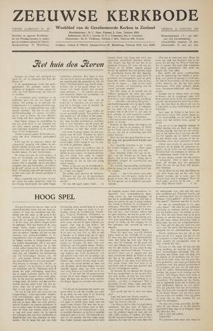 Zeeuwsche kerkbode, weekblad gewijd aan de belangen der gereformeerde kerken/ Zeeuwsch kerkblad 1955-01-14