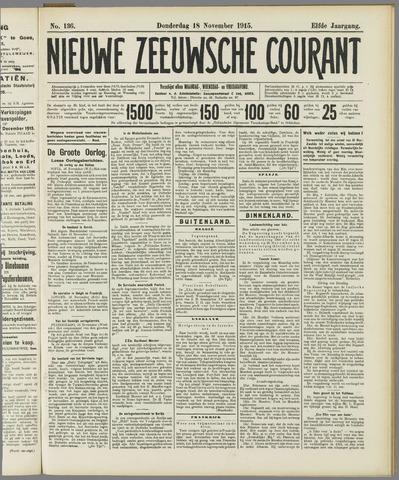 Nieuwe Zeeuwsche Courant 1915-11-18