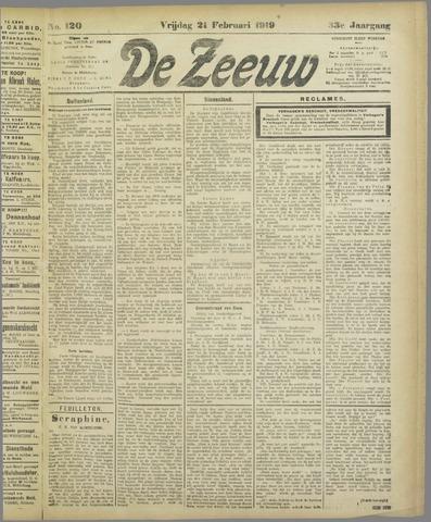 De Zeeuw. Christelijk-historisch nieuwsblad voor Zeeland 1919-02-21