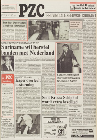 Provinciale Zeeuwse Courant 1985-11-26