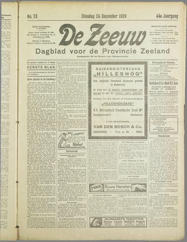 De Zeeuw. Christelijk-historisch nieuwsblad voor Zeeland 1929-12-24