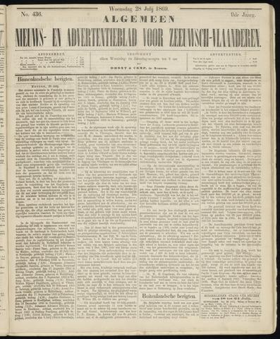 Ter Neuzensche Courant. Algemeen Nieuws- en Advertentieblad voor Zeeuwsch-Vlaanderen / Neuzensche Courant ... (idem) / (Algemeen) nieuws en advertentieblad voor Zeeuwsch-Vlaanderen 1869-07-28
