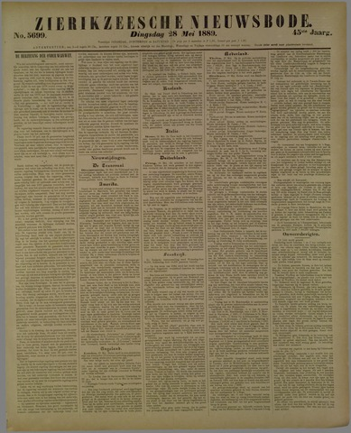 Zierikzeesche Nieuwsbode 1889-05-28