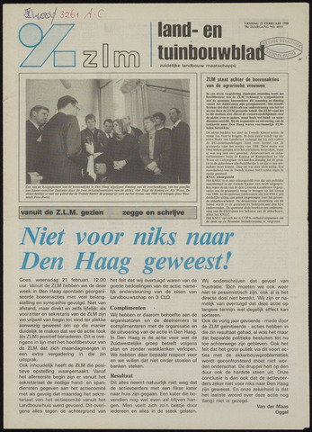 Zeeuwsch landbouwblad ... ZLM land- en tuinbouwblad 1990-02-23
