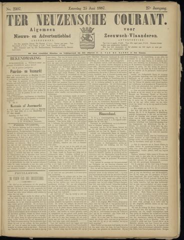 Ter Neuzensche Courant. Algemeen Nieuws- en Advertentieblad voor Zeeuwsch-Vlaanderen / Neuzensche Courant ... (idem) / (Algemeen) nieuws en advertentieblad voor Zeeuwsch-Vlaanderen 1887-06-25