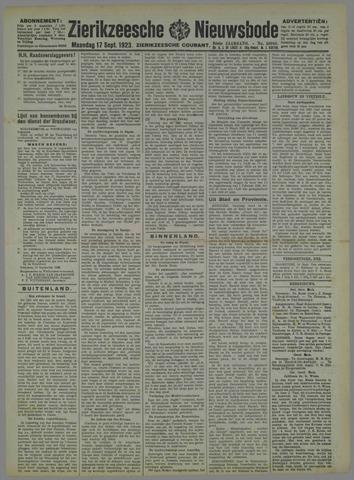 Zierikzeesche Nieuwsbode 1923-09-17