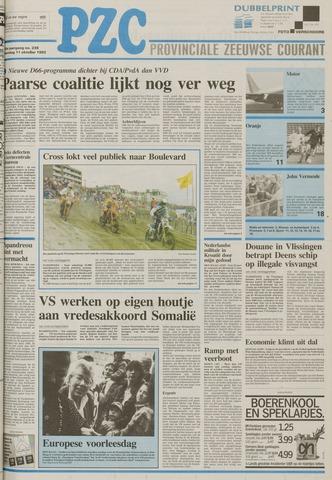 Provinciale Zeeuwse Courant 1993-10-11