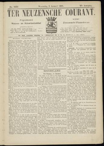 Ter Neuzensche Courant. Algemeen Nieuws- en Advertentieblad voor Zeeuwsch-Vlaanderen / Neuzensche Courant ... (idem) / (Algemeen) nieuws en advertentieblad voor Zeeuwsch-Vlaanderen 1881-01-05