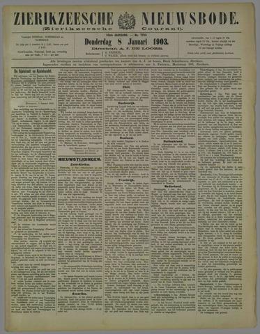 Zierikzeesche Nieuwsbode 1903-01-08