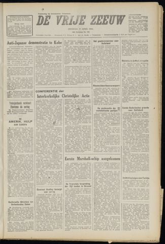 de Vrije Zeeuw 1948-04-27