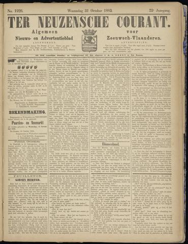 Ter Neuzensche Courant. Algemeen Nieuws- en Advertentieblad voor Zeeuwsch-Vlaanderen / Neuzensche Courant ... (idem) / (Algemeen) nieuws en advertentieblad voor Zeeuwsch-Vlaanderen 1883-10-31