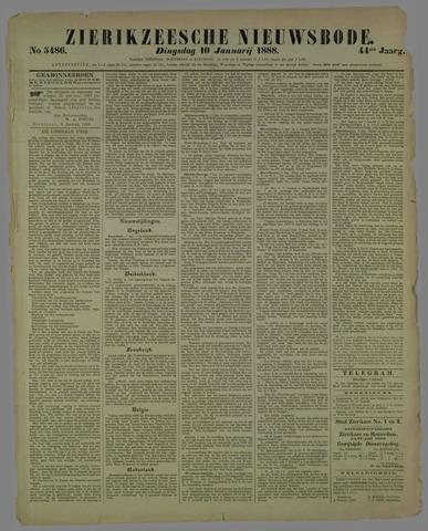 Zierikzeesche Nieuwsbode 1888-01-10