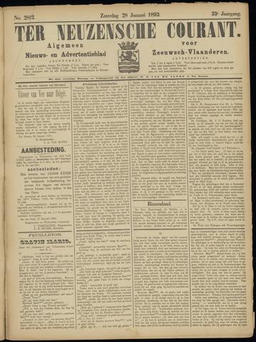 Ter Neuzensche Courant. Algemeen Nieuws- en Advertentieblad voor Zeeuwsch-Vlaanderen / Neuzensche Courant ... (idem) / (Algemeen) nieuws en advertentieblad voor Zeeuwsch-Vlaanderen 1893-01-28